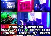 Alquiler luces djs sonido laser luz neon karaoke c