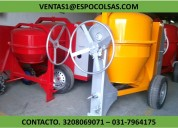 Mezcladora para concreto bulto y medio