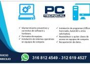 Soporte tecnico computadores celulares y cctv