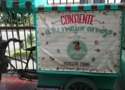 Triciclo de para venta de comida rapida