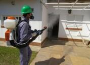 Servicio de fumigación en el peñon, control de pla