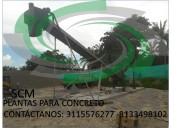 Scm fabricantes de plantas para concreto