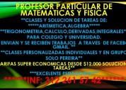 Matemáticas asesorías , cálculo, estadística