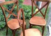 Venta y alquiler de mobiliario para eventos sillas