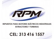 Rpm repuestos motores eléctricos industriales