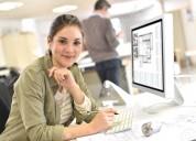 Mujeres p'a oficios varios de oficina planeando ap
