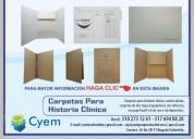 Carpetas para archivo de historia clínica