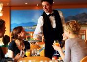 Trabajadores de hoteles y restaurantes necesitan