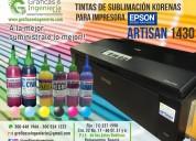 Tintas de sublimación para impresoras, epson.