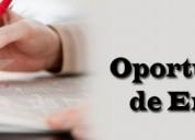 Asistentes de publicidad con ingresos semanales