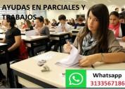 Ayudas rapidas en talleres y examenes x whapp