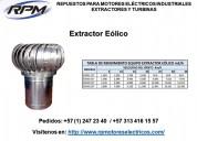 Extractor de rendimiento equipo eólico