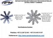 Axiales para motores eléctricos industriales