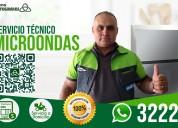 Reparación y servicio técnico de microondas.