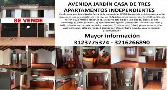 avenida jardín casa con 3 apartamentos independien, bucaramanga - doplim - 1466328