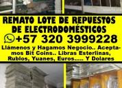 Repuestos de electrodomésticos en venta