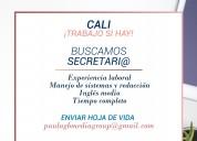 Buscamos secretaria o secretario