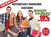 Soluciono exámenes de matemáticas, física, química