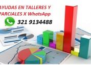 Ayudas en parciales y trabajos rapidos x whatsapp