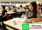 Profesor ayuda en parciales y trabajos x whapp