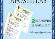 Apostilla/legalización y traducción en medellín