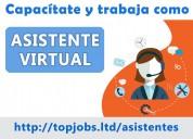 Capacitación y empleo como asistente virtual
