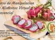 Curso de manipulación virtual y presencial