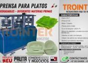 Prensa para platos biodegradables