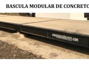 Bascula modular de concreto