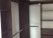 Closet y vestier en rh cedro, wengue o blanco de 1
