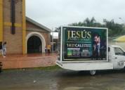 Eventos y publicidad, carro valla santa marta