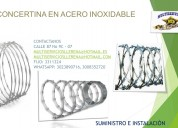 Concertinas en acero inoxidable