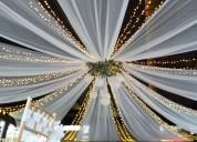 Decoracion de techos con luces y velos