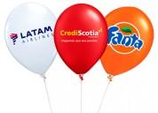 globos inflados con helio, decoración y publicidad