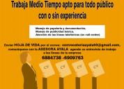 Oferta de trabajo sin experiencia bucaramanga