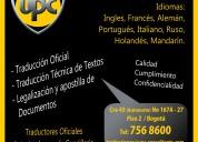 Empresa de traductores oficiales en el 3113050553