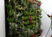 Jardines verticales, interiores y exteriores
