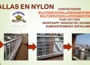 Seguridad para el hogar en redes en nylon