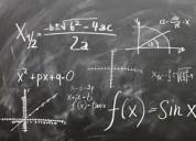 Clases de matematicas, fisic y quimica a domicilio
