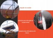 Alquiler de manlift y plataformas elevadoras