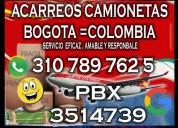 Acarreos pequeños bogotá pbx 3514739 whatsapp