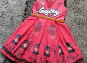 Vestidos de fiesta lady bug miraculous para niñas