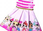 Vestidos de fiesta lol surpise para niñas
