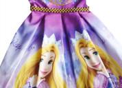 Vestidos de fiesta rapunzel para niñas