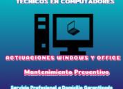 Venta de paquetes offic y mantenimiento sofware