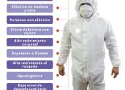 Traje bioseguridad antifluido  blanco covid-19