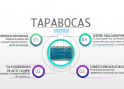 Tapabocas confeccionados en politex quirúrgico