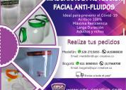 Mascara de protecciÓn facial anti-fluidos en acrÍl