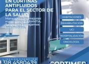 Cortinas antifluidos para hospitales