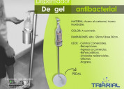 Dispensador de gel antibacterial